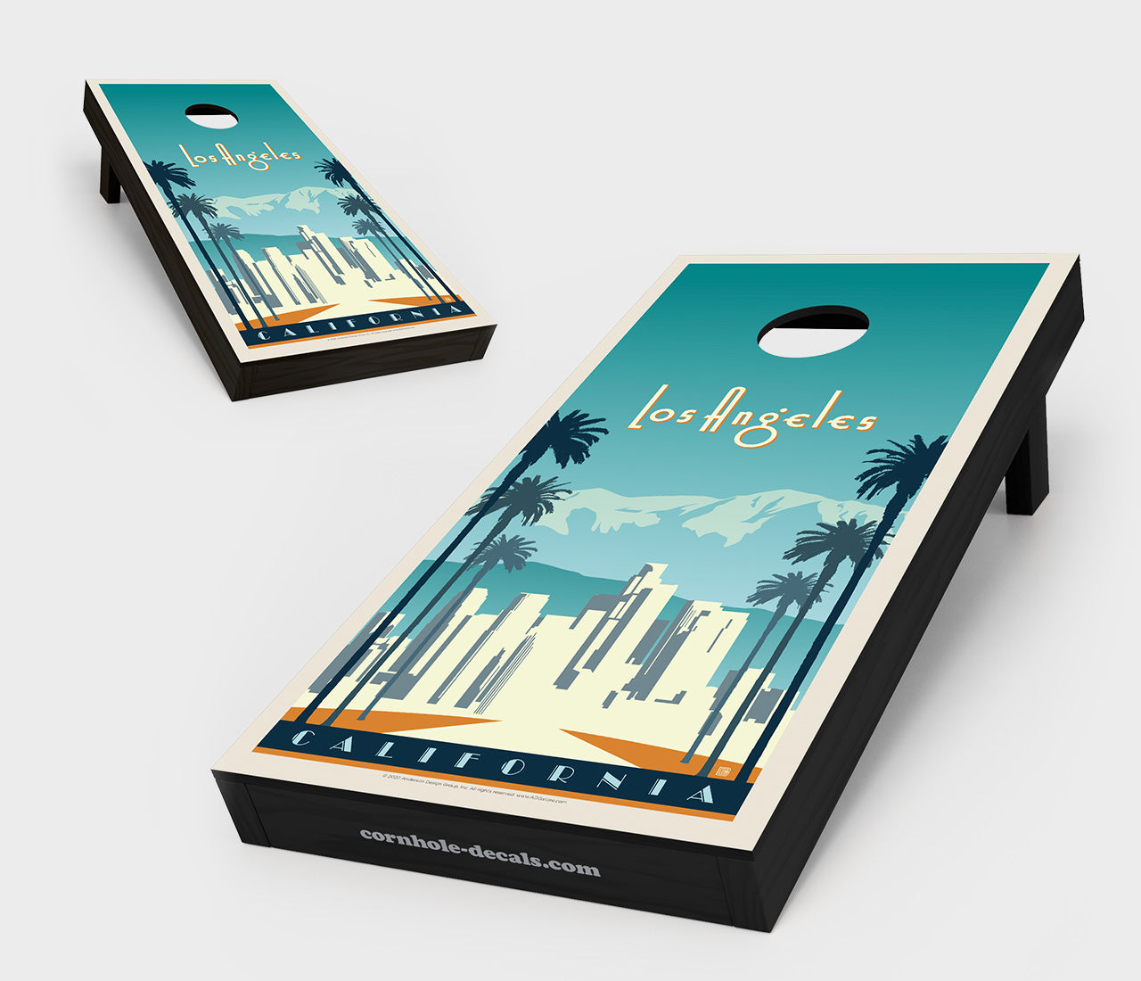 Los Angeles, California Cornhole Board Set