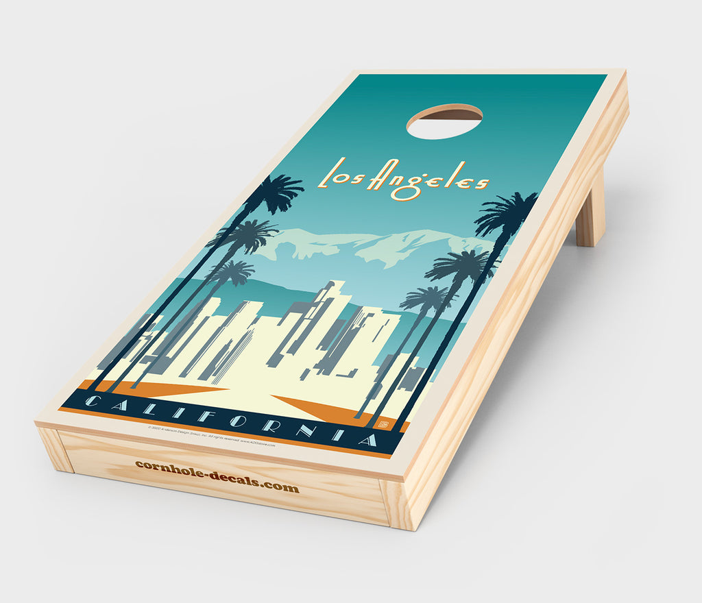 Los Angeles, California Cornhole Decal