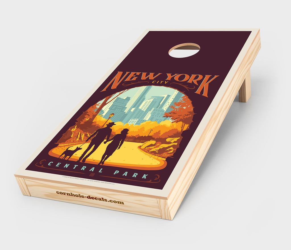 Central Park: New York City Cornhole Design