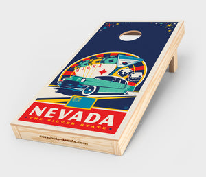 Nevada: The Silver State Cornhole Decal