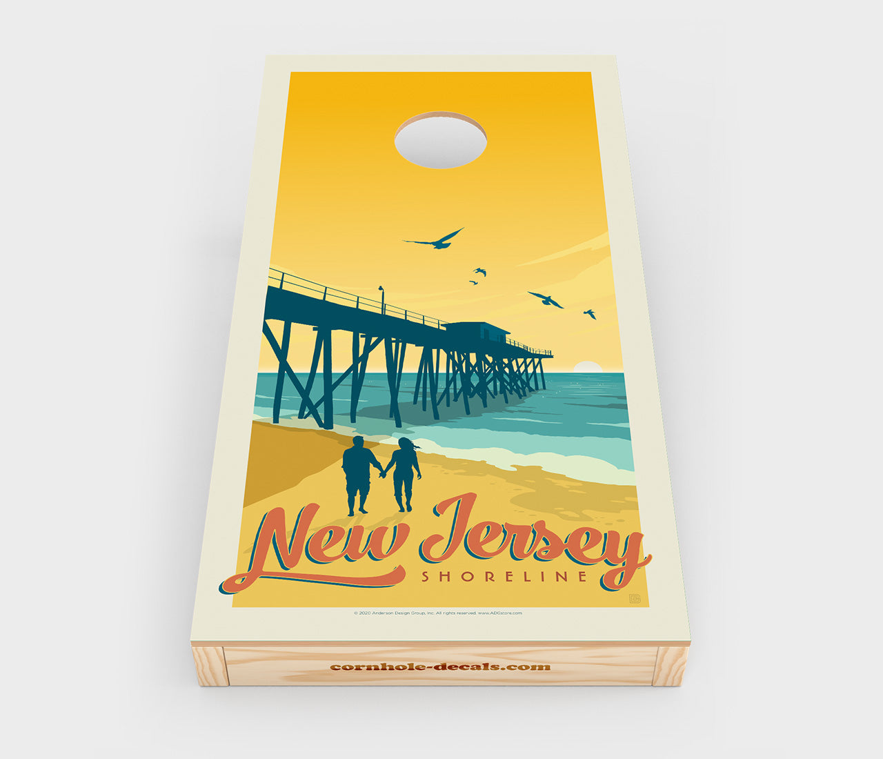 New Jersey Shoreline Cornhole Decal