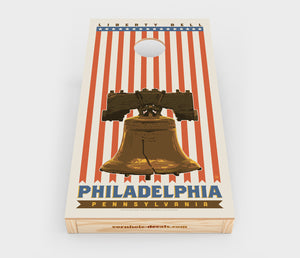 Liberty Bell: Philadelphia, Pennsylvania Cornhole Decal