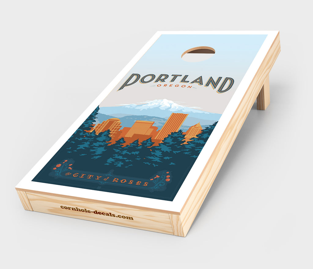 City of Roses: Portland, Oregon Cornhole Decal