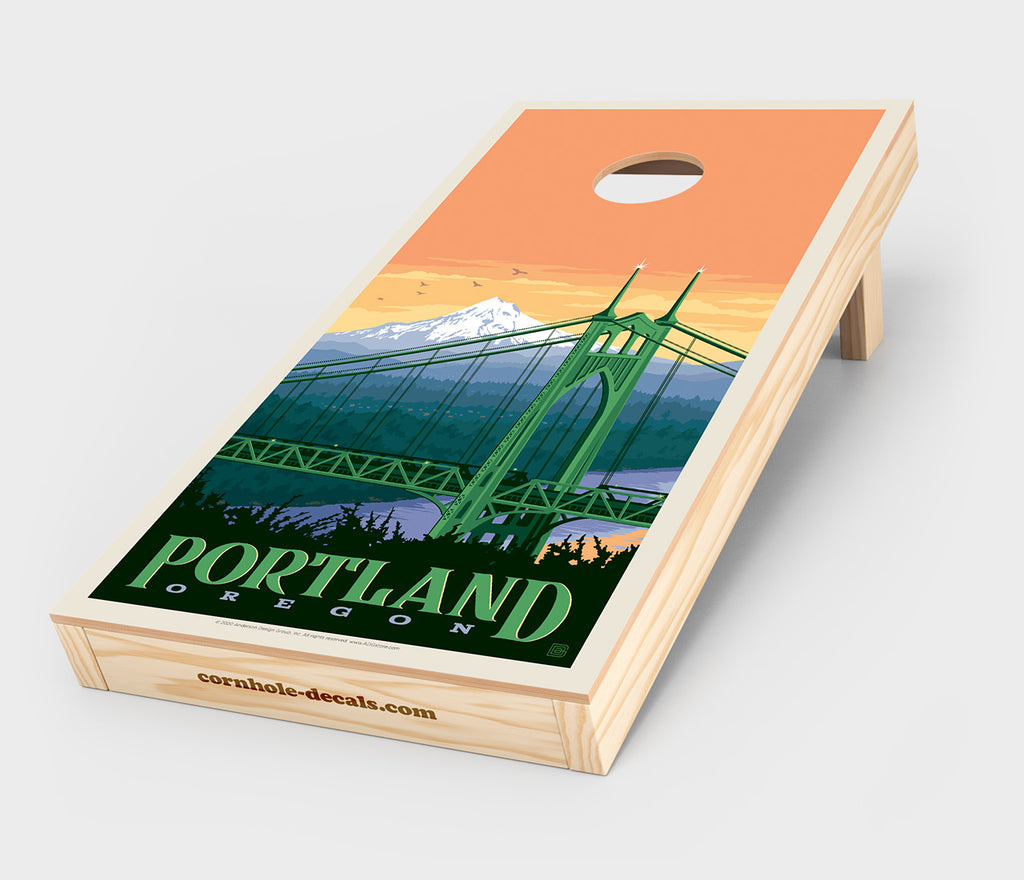 St. Johns Bridge: Portland, Oregon Cornhole Decal