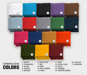 Chuggles Cornhole - Cornhole Bag Colors