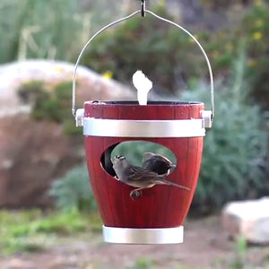 Rustic Hanging Bird Feeder with Fountain