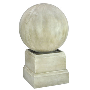 Catania Round Cascading Waters Fountain - White Stone
