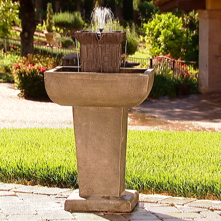 Designer Fountain Tower - Square Black Granite