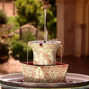 4-in-1 Fountain Tower w/Planter Bowl