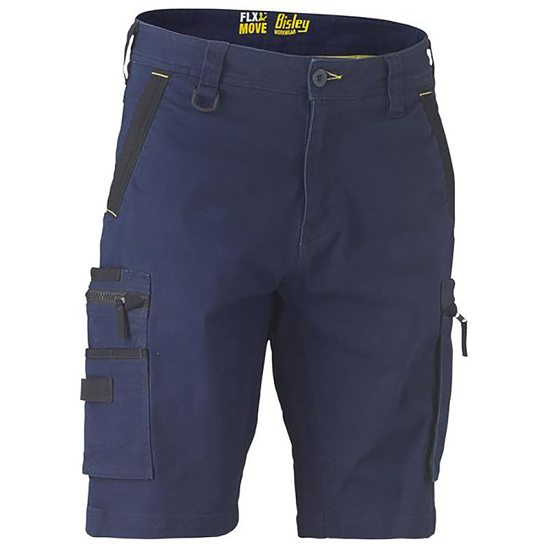 Bisley Flex & Move Stretch Utility Zip Cargo Short