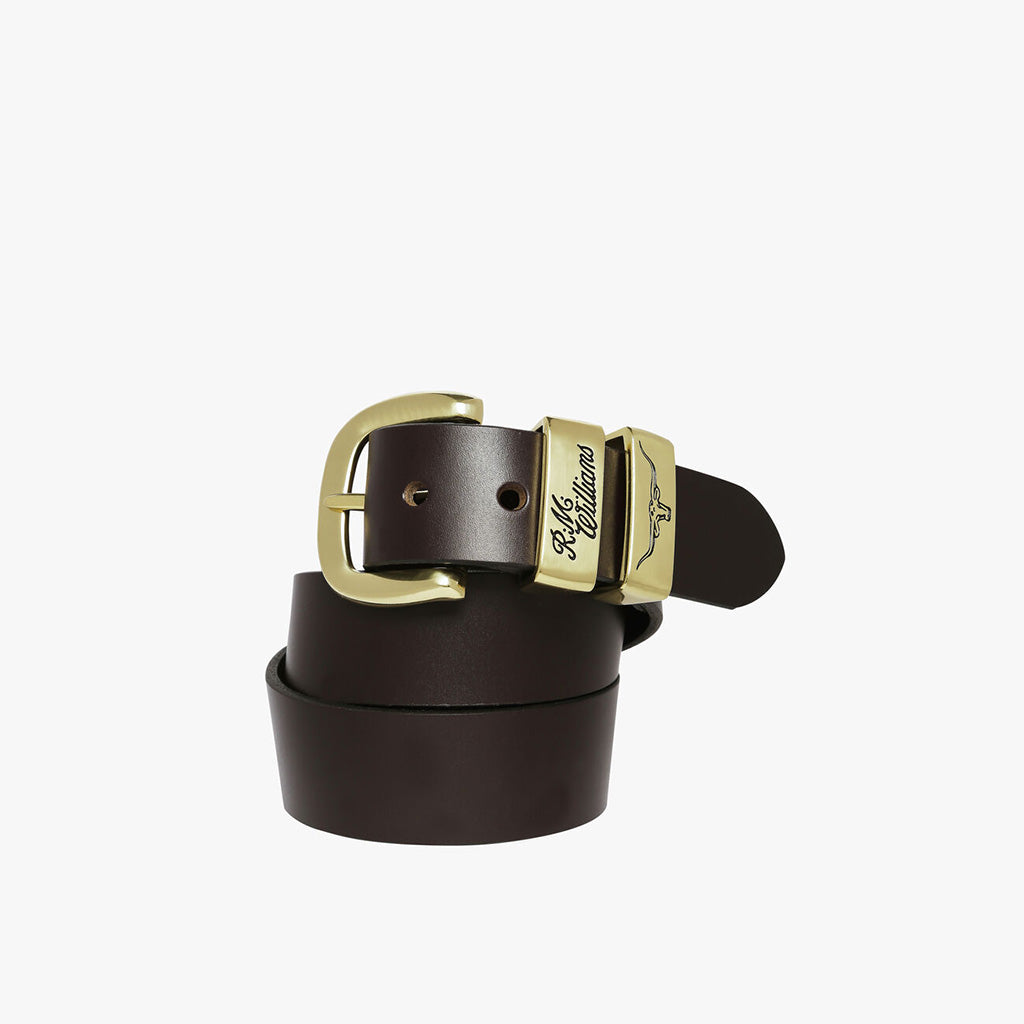 "R.M. Williams 1 1/2"" 3 Piece Hide Belt"