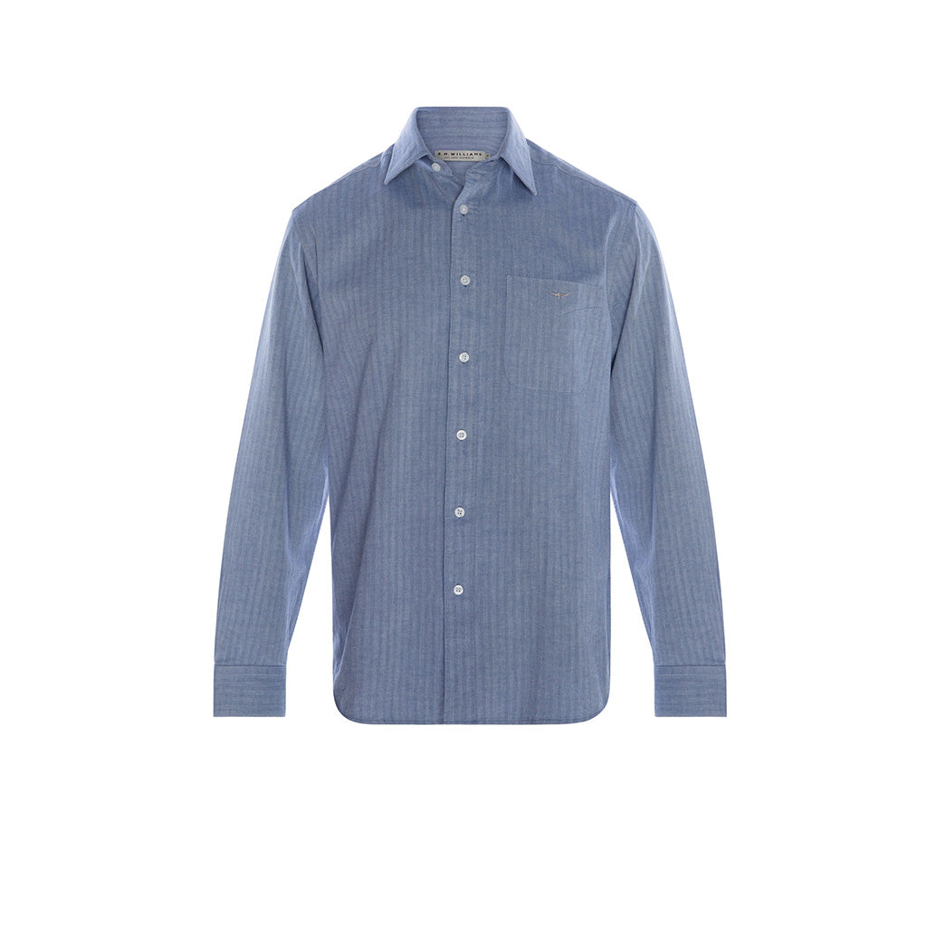 R.M. Williams Collins Shirt - Blue Grey