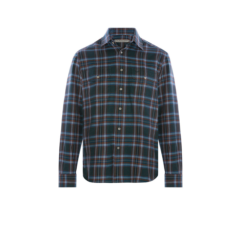 R.M. Williams Bourke Shirt - Petrol/Khaki