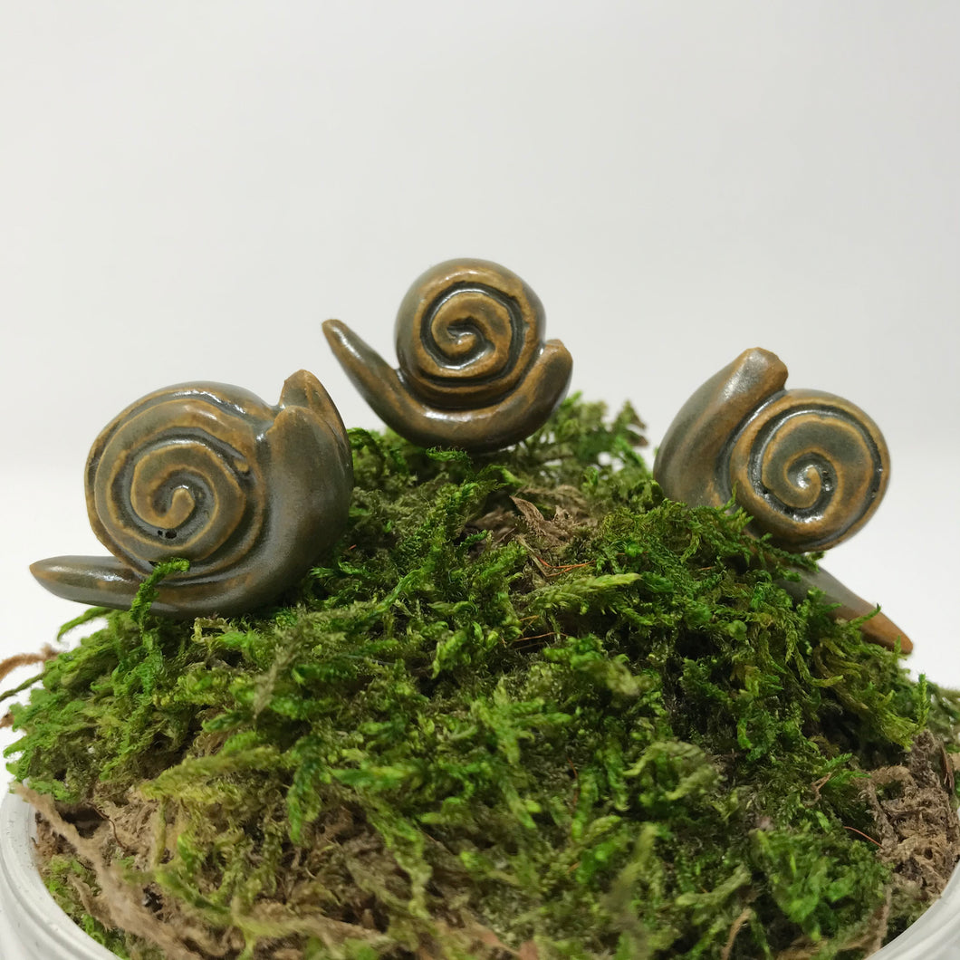 Miniature Snail: Army Green