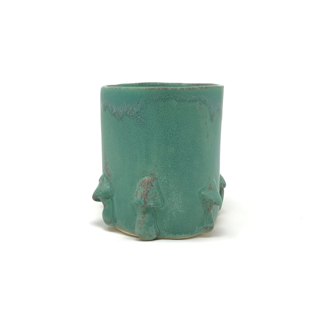 Matte Turquoise Ring of Parasol Mushrooms Mug