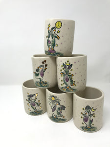 Rabbit Tumbler - Teal, Purple, & Yellow
