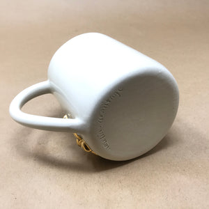 Glossy White & 22k Gold Trio of Button Mushrooms Mug