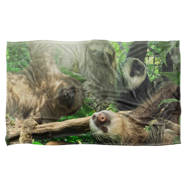 Sloth Club-silky Touch Blanket-white