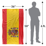 Spain Flag-silky Touch Blanket-white