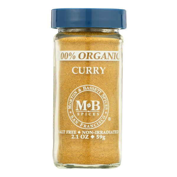 Morton And Bassett Organic Curry - Curry - Case Of 3 - 2.1 Oz..