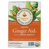 Traditional Medicinals Organic Ginger Aid Herbal Tea - 16 Tea Bags - Case Of 6.