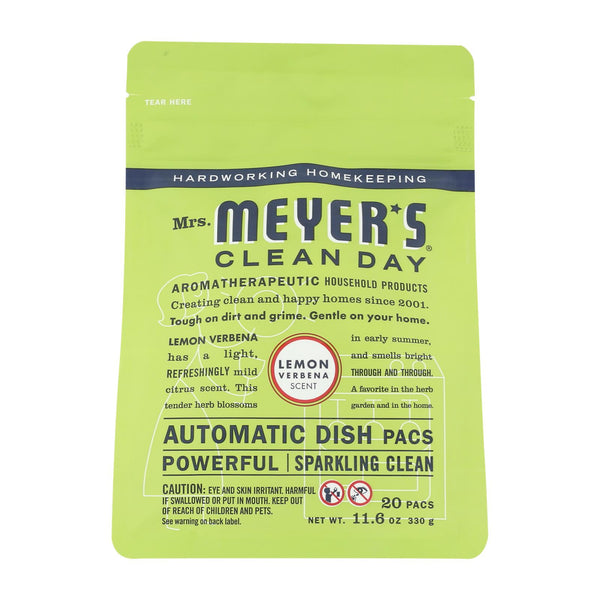 Mrs. Meyer's Clean Day - Automatic Dishwasher Packs - Lemon Verbena - Case Of 6 - 12.7 Oz.