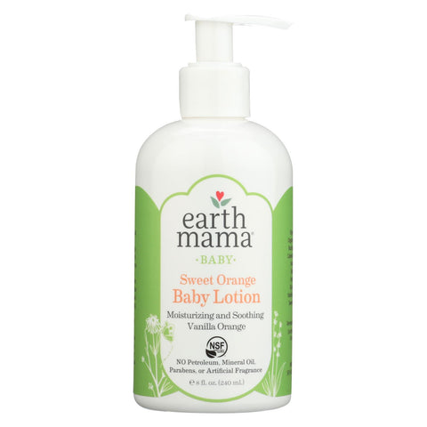 Earth Mama Angel Baby Lotion Vanilla Orange - 8 Fl Oz.