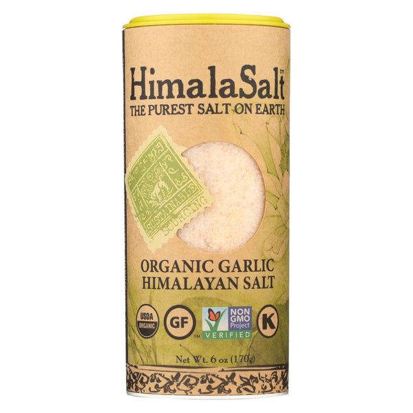 Himalasalt Organic Garlic Salt Shaker - Case Of 6 - 6 Oz.