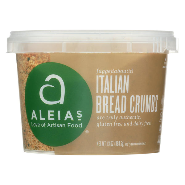 Aleia's - Gluten Free Bread Crumbs - Italian - Case Of 12 - 13 Oz. - Typical corporation