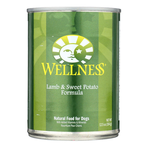 Wellness Pet Products Dog Food - Lamb And Sweet Potato Recipe - Case Of 12 - 12.5 Oz..