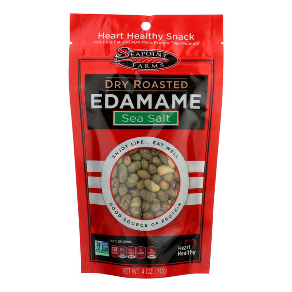 Seapoint Farms Dry Roasted Edamame - Sea Salt - Case Of 12 - 4 Oz..