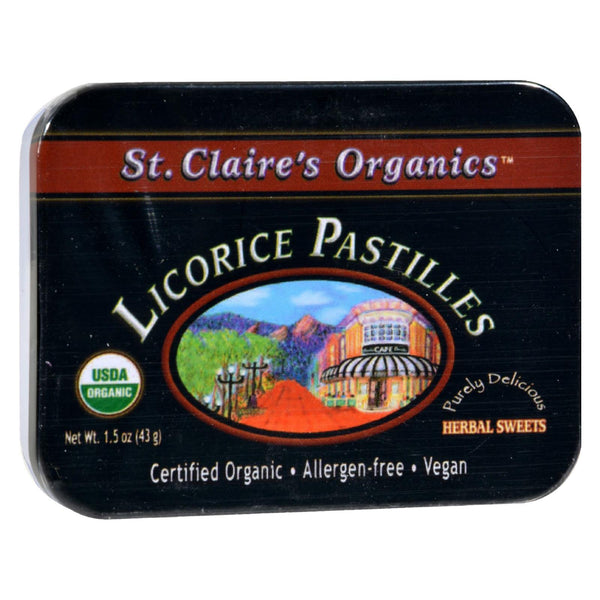 St Claire's Organic Licorice Sweets Display Case - Case Of 6 - 1.5 Oz.