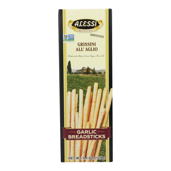 Alessi - Breadsticks - Garlic - Case Of 12 - 4.4 Oz. - Typical corporation