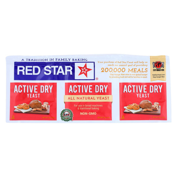 Red Star Nutritional Yeast - Active Dry - .75 Oz - Case Of 18.