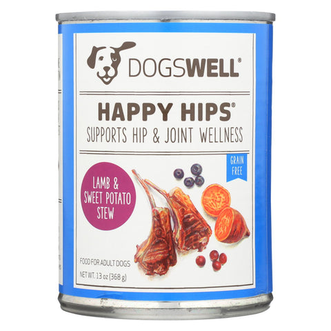 Dogs Well Happy Hips Lamb And Sweet Potato Stew Dog Food - Case Of 12 - 13 Oz..