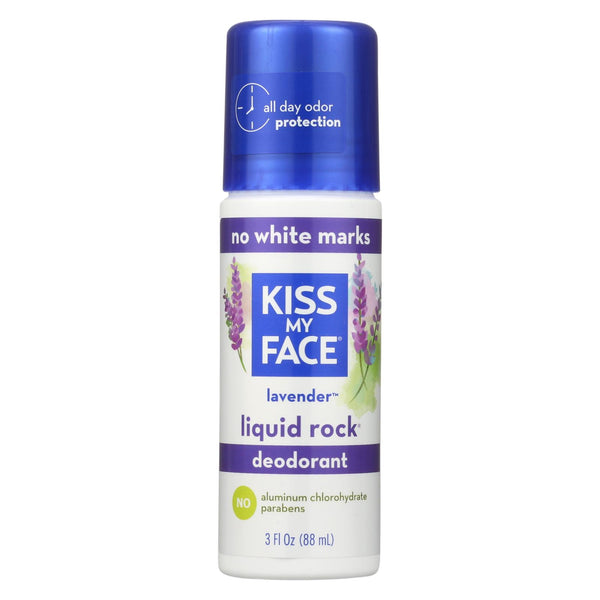 Kiss My Face Deodorant Liquid Rock Roll-on Lavender - 3 Fl Oz.