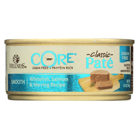 Wellness Pet Products Cat Food - Core White Fish Salmon And Herring - Case Of 24 - 5.5 Oz..