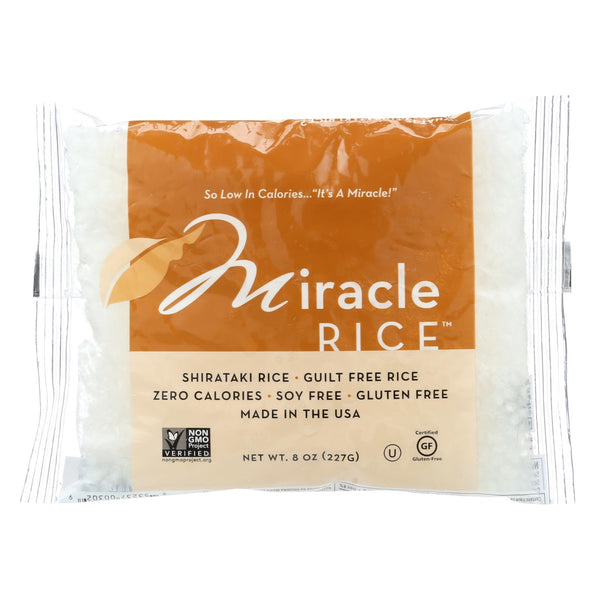 Miracle Noodle Rice - Shirataki - Miracle Rice - 8 Oz - Case Of 6.
