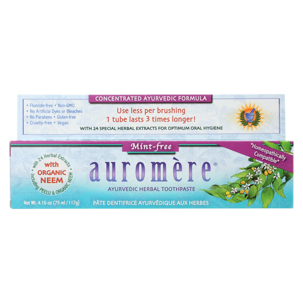 Auromere Toothpaste - Mint-free - Case Of 1 - 4.16 Oz..