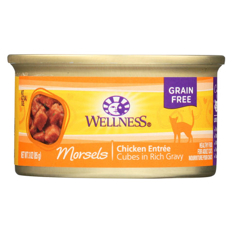 Wellness Pet Products Cat Food - Chicken Entr?e - Case Of 24 - 3 Oz..