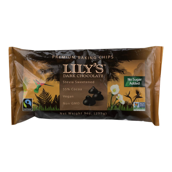 Lily's Sweets Dark Chocolate - Case Of 12 - 9 Oz..