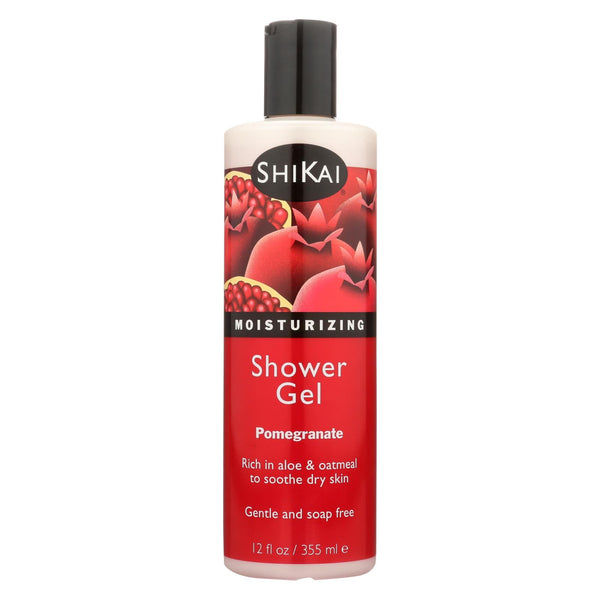 Shikai Products Shower Gel - Pomegranate - 12 Oz.