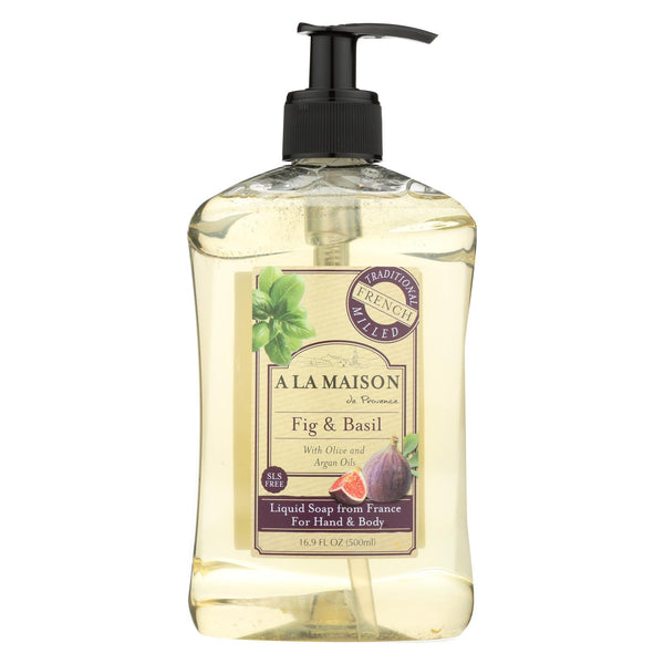 A La Maison - French Liquid Soap - Fig And Basil - 16 Oz - Typical corporation