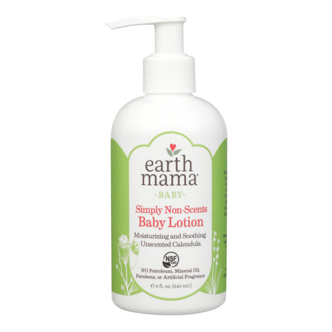 Earth Mama Angel Baby Lotion - Natural Non-scents - Fragrance Free - 8 Oz.