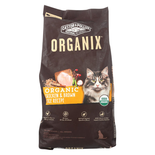 Castor And Pollux - Organix Grain Free Dry Cat Food - Chicken And Brown Rice - Case Of 5 - 6 Lb..