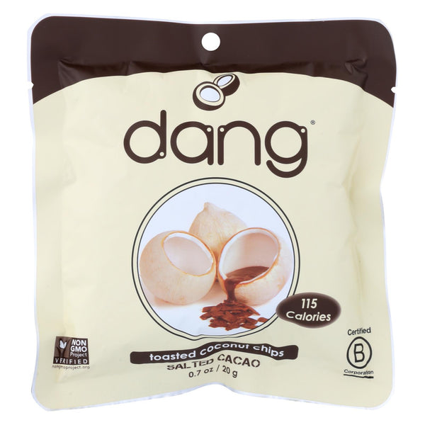 Dang - Toasted Coconut Chips - Salted Cacao - Case Of 24 - 0.7 Oz..