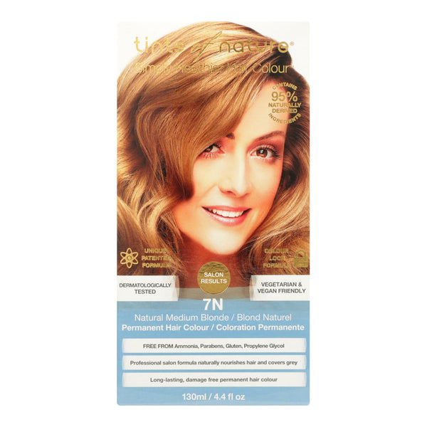 Tints Of Nature 7n Natural Medium Blonde Hair Color  - 1 Each - 4.4 Fz.
