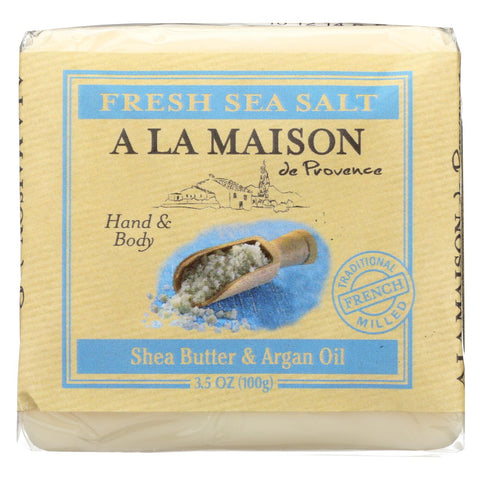 A La Maison - Bar Soap - Fresh Sea Salt  - Case Of 6 - 3.5 Oz - Typical corporation