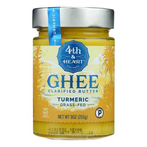 4th & Heart - Ghee - Turmeric Grass Fed - Case Of 6 - 9 Oz. - Typical corporation