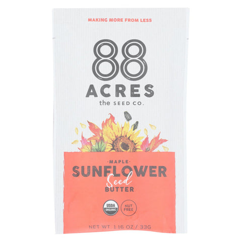 88 Acres - Seed Butter - Organic Maple Sunflower - Case Of 10 - 1.16 Oz. - Typical corporation